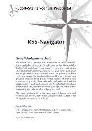 RSS-Navigator 2013/ 2014 - Rudolf Steiner Schule Wuppertal