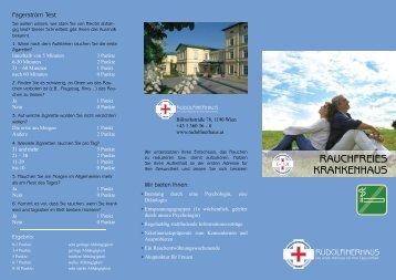"Folder ""Rauchfreies Krankenhaus"" - Rudolfinerhaus"