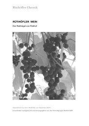 [D] Rütihöfler Wein - Rütihöfler Chronik