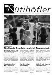 Juni 2009 - Rütihöfler Chronik