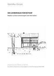 Ein Lehrerhaus für Rütihof - 50 Jahre nach der ... - Rütihöfler Chronik
