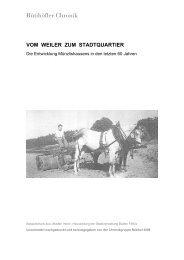 [D] Vom Weiler zum Stadtquartier - Rütihöfler Chronik