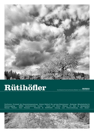 April 2013 - Rütihöfler Chronik