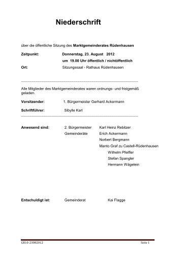 Protokoll öffentliche Sitzung September 2012, 201 KB - Rüdenhausen