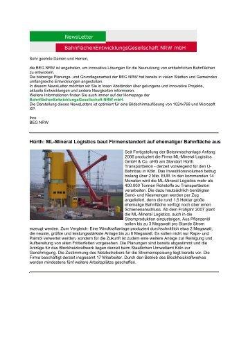 PDF, 745 KB - BahnflächenEntwicklungsGesellschaft NRW mbH