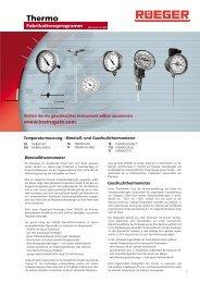 fabrikationsprogramm thermo - Rueger