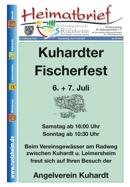 Kuhardter Fischerfest Verbandsgemeinde Rã Lzheim