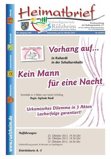 Kein Mann für eine Nacht - Verbandsgemeinde Rülzheim