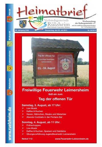 Freiwillige Feuerwehr Leimersheim - Verbandsgemeinde Rülzheim