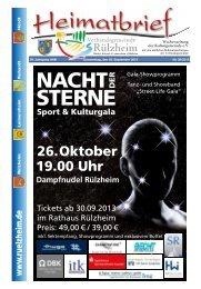 26. Oktober 19.00 Uhr - Verbandsgemeinde Rülzheim