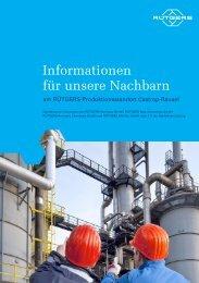 Download Informationsbroschüre für die Nachbarn - RÜTGERS Group