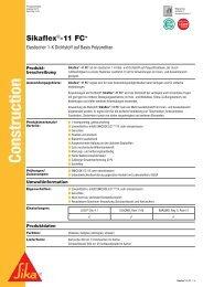 Sikaflex 11FC+ - Potthoff Dichtstoffe