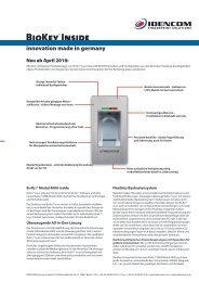 BioKey Gate + Infrarot-Key Pad New Line