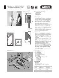 und Bedienungsanleitung für ABUS Fenstergriff-Schloss FO 500