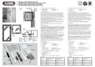 D Montage- und Bedienungsanleitung für ABUS Fenster ... - ELV
