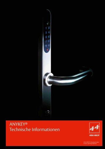 ANYKEY® - Sicherheitsbeschlag mit Zutrittskontrolle