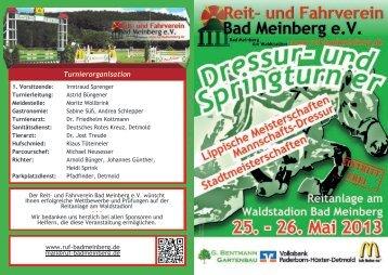 Turnierorganisation - Reit- und Fahrverein Bad Meinberg e.V.