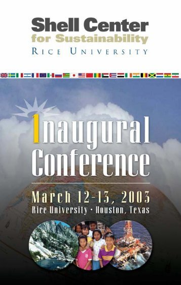 to download Conference Brochure - Rice University