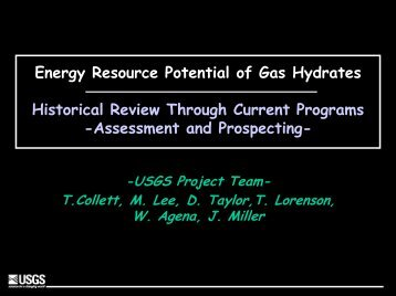 Energy Resource Potential of Gas Hydrates ... - Rice University