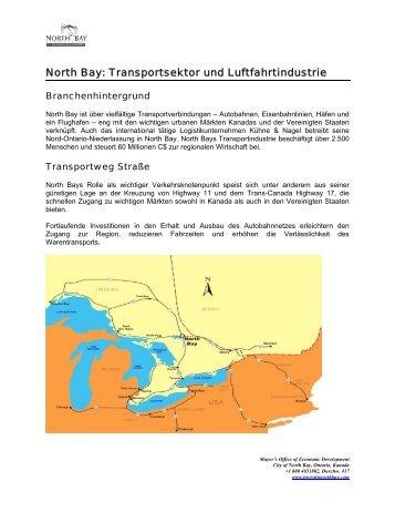 North Bay: Transportsektor und Luftfahrtindustrie - City of North Bay