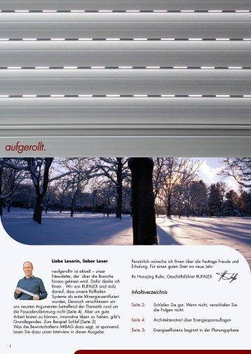 aufgerollt. - Rufalex Rollladen-Systeme AG