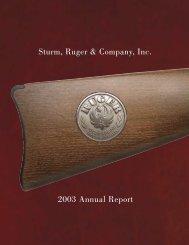 Sturm, Ruger & Company, Inc. 2003 Annual Report