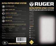 ultra pepper spray system ultra pepper spray system - Ruger