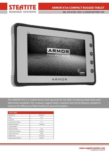 Armor X7et Datasheet - Steatite Rugged Systems