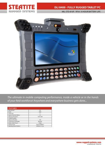 DLI 8400 Datasheet - Steatite Rugged Systems