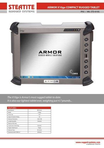 Armor X10gx Datasheet - Steatite Rugged Systems