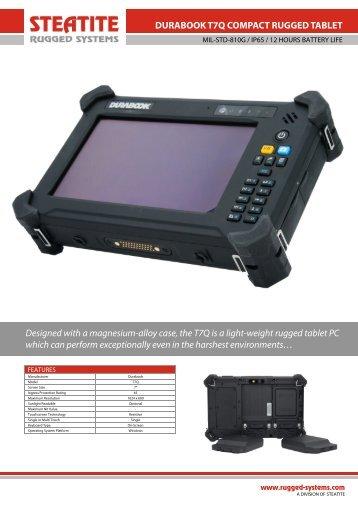 Durabook T7Q Datasheet - Steatite Rugged Systems