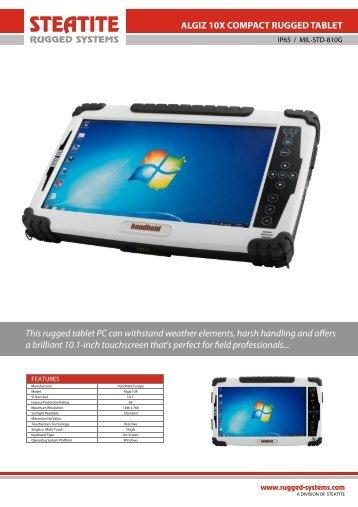 Algiz 10X Datasheet - Steatite Rugged Systems