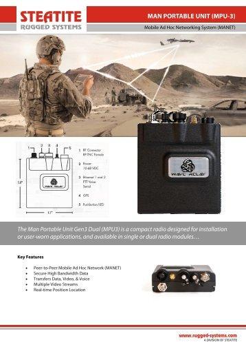 Man Portable Unit MPU-3 Datasheet - Steatite Rugged Systems