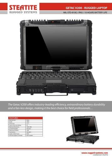 Getac V200 Datasheet - Steatite Rugged Systems