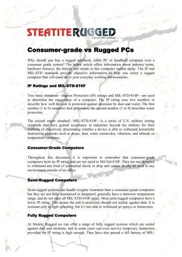 Consumer-grade vs Rugged PCs - Steatite Rugged Systems