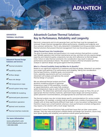 Advantech Custom Thermal Solutions: Key to Perfomance ...