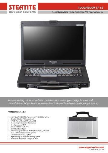 Toughbook CF-53 Datasheet - Steatite Rugged Systems