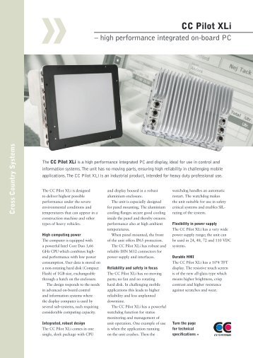 CC Pilot XLi - Rugged PC Review