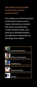 Gunze's vertical market touch screen brochure - Rugged PC Review - Page 3