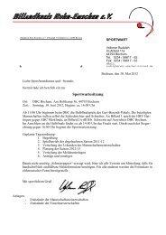 Einladung zur Sportwartesitzung - Billardkreis Ruhr-Emscher eV