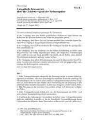 Europäische Konvention vom 11. Dezember ... - Eu-Info.deutschland