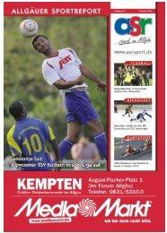 ASR Sport Ausgabe Oktober 2010 - Allgäu Sport Report