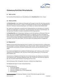 Satzung RuhrZirkel Wirtschaftsclub