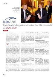 TOP MAGAZIN RUHR, Ausgabe 1, Frühjahr 2009 ... - RuhrZirkel
