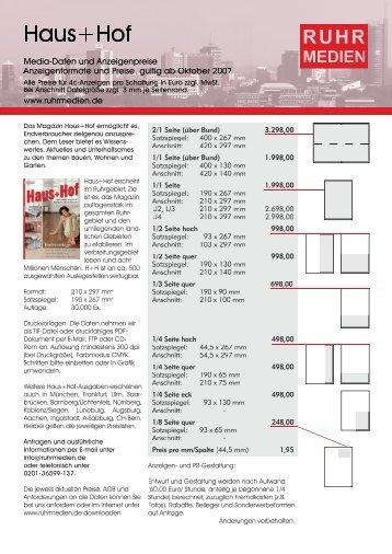 hausundhof-A4 2008.indd - RUHR MEDIEN Werbeagentur