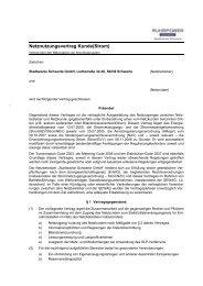 Netznutzungsvertrag Kunde(Strom) - Stadtwerke Schwerte
