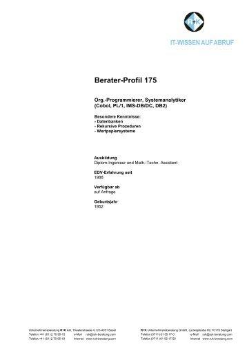 Berater-Profil 175 - R+K Unternehmensberatung GmbH