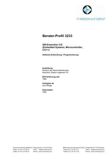 Berater-Profil 3233 - R+K Unternehmensberatung GmbH