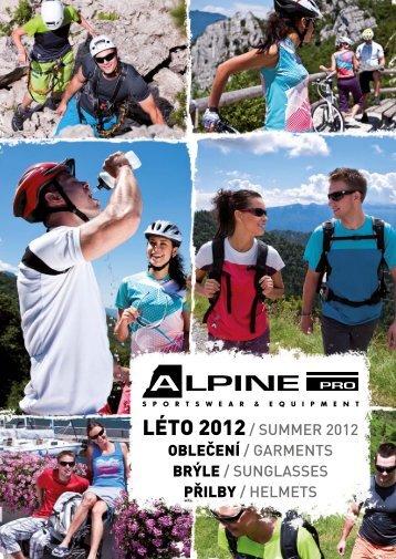 www.alpinepro.com SU 2012 OBLEČENÍ, BRÝLE, PŘILBY ...