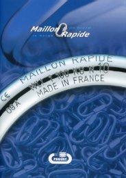 Catalogue Maillon Rapide Péguet 2009